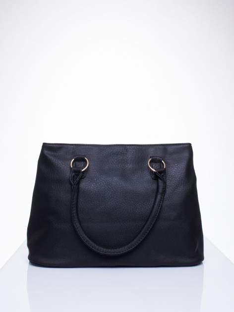 Czarna torebka ze złotymi okuciami z kryształkami                                  zdj.                                  3