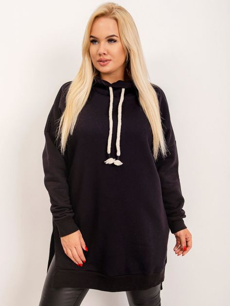 Czarna tunika plus size Samantha