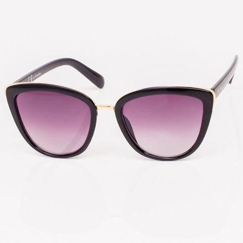 Czarne Damskie Okulary przeciwsłoneczne CAT EYE                              zdj.                              3