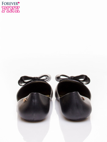 Czarne baleriny silicone Naomi gumowe z kokardą                                  zdj.                                  4