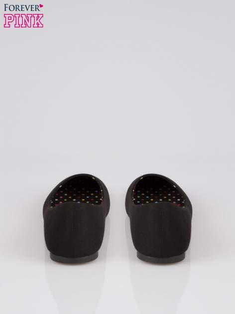 Czarne baletki z tkaniny                                  zdj.                                  3