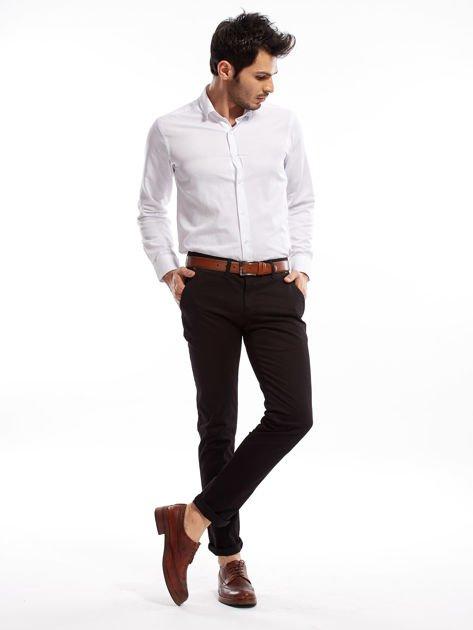 Czarne bawełniane spodnie męskie chinosy                               zdj.                              6