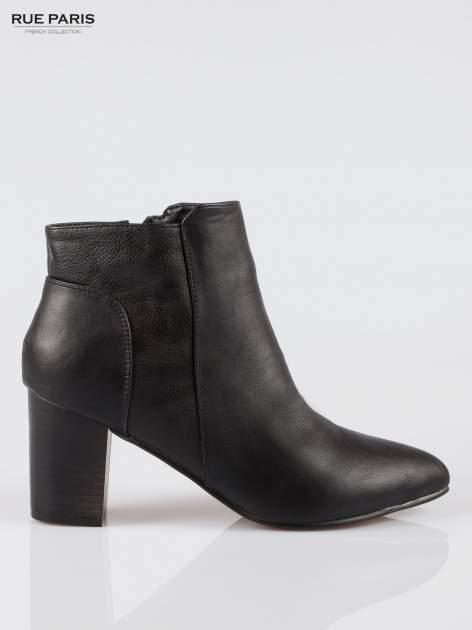 Czarne botki ankle heels na słupku