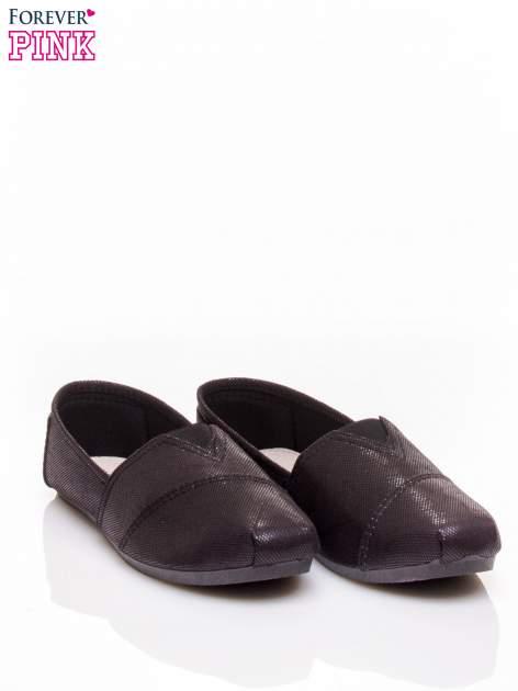 Czarne buty sliponki z efektem skóry jaszczurki Halo                                  zdj.                                  3