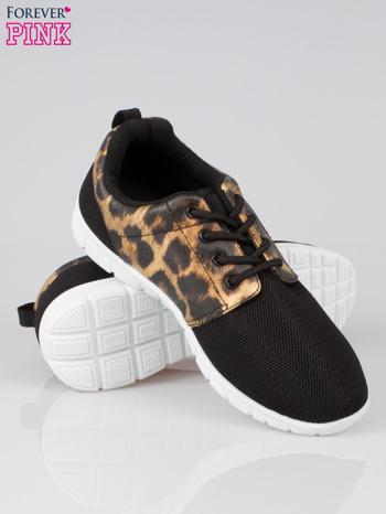 Czarne buty sportowe dual Lead Up z panterkową wstawką                                  zdj.                                  4