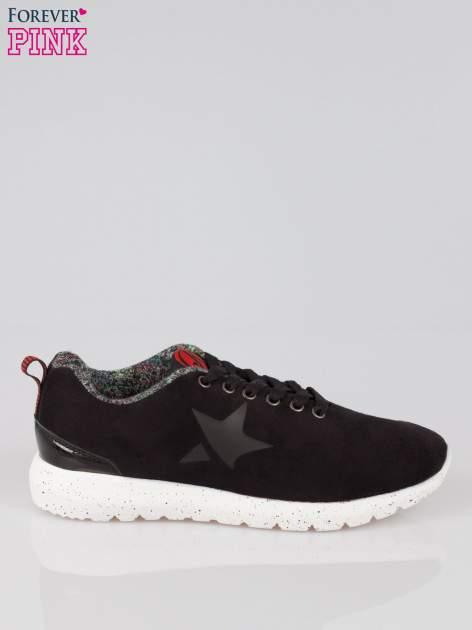 Czarne buty sportowe faux suede Hollywood z zamszu                                  zdj.                                  1