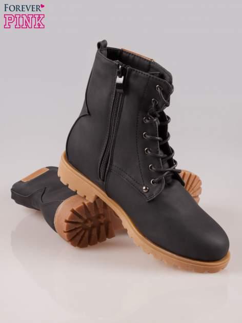 Czarne damskie buty trekkingowe typu traperki                                  zdj.                                  4