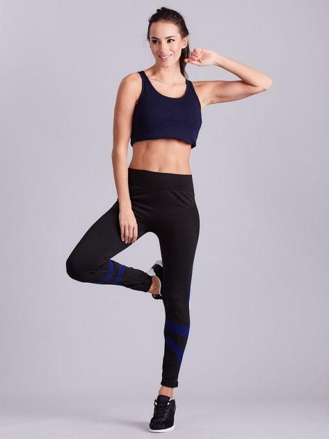 Czarne damskie legginsy sportowe                               zdj.                              5