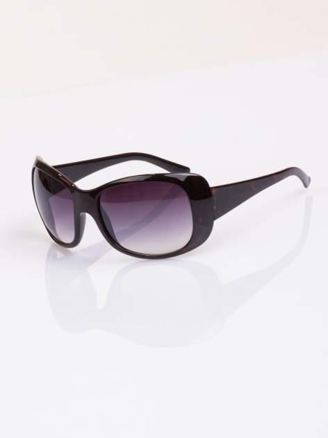 """Czarne damskie okulary """"muchy"""""""