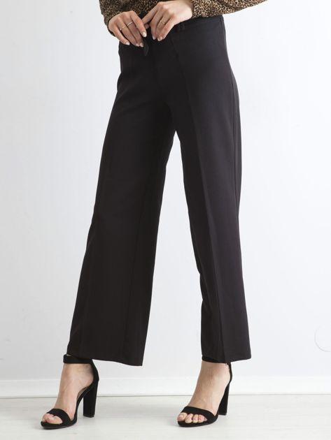 Czarne damskie szerokie spodnie                              zdj.                              1
