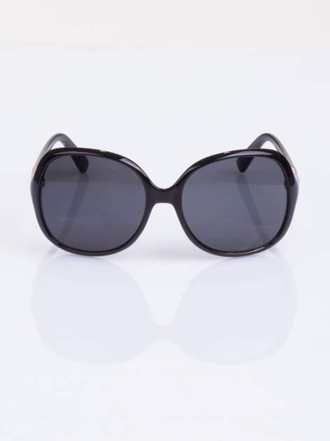 Czarne duże okulary blogerek MUCHY                                  zdj.                                  2