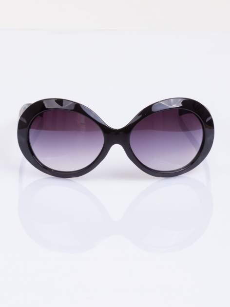"""Czarne eleganckie okulary przeciwsłoneczne """"MUCHY""""                                  zdj.                                  1"""