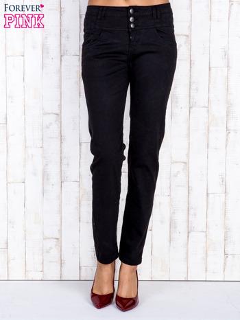 Czarne jeansowe spodnie skinny z wysokim stanem