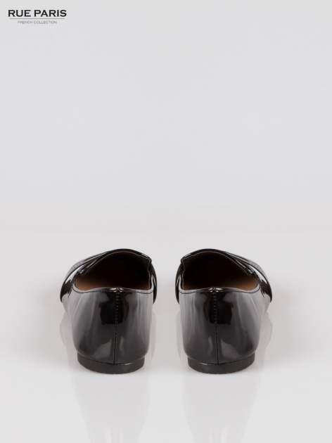 Czarne lakierowane mokasyny penny loafers Harper                                  zdj.                                  3