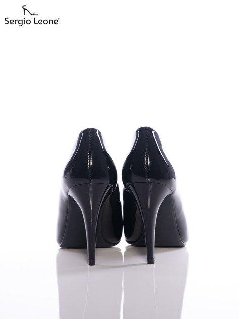 Czarne lakierowane szpilki Sergio Leone                              zdj.                              3