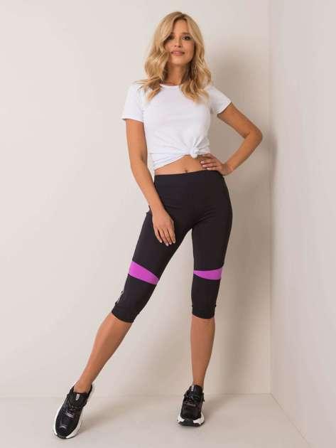 Czarne legginsy Trissa FOR FITNESS