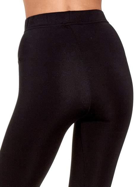 Czarne legginsy basic z lekkim ociepleniem                                  zdj.                                  7