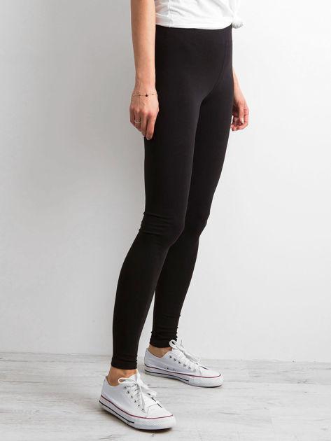 Czarne legginsy damskie basic                              zdj.                              3