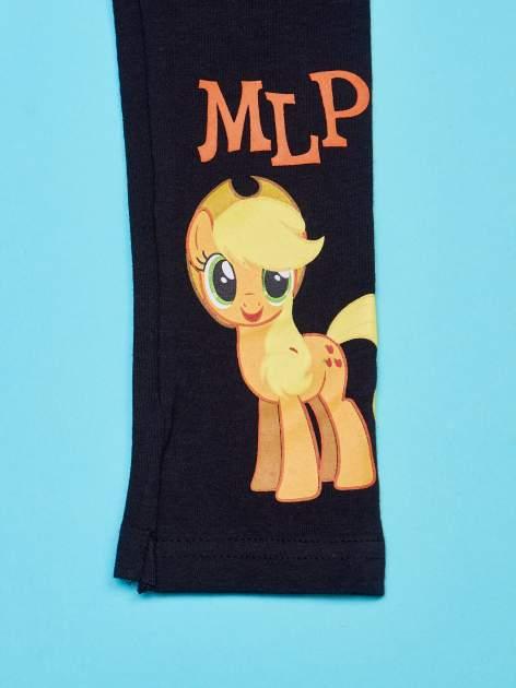 Czarne legginsy dla dziewczynki motyw MY LITTLE PONY                                   zdj.                                  4
