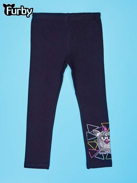 Czarne legginsy dla dziewczynki z motywem FURBY                                  zdj.                                  1