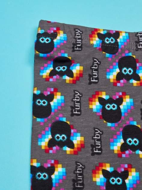 Czarne legginsy dla dziewczynki z nadrukiem FURBY                                  zdj.                                  3