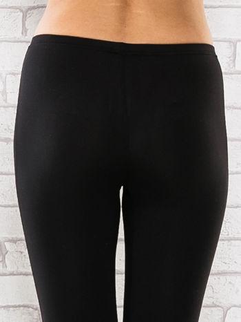 Czarne legginsy sportowe termalne z patką z dżetów                                  zdj.                                  6