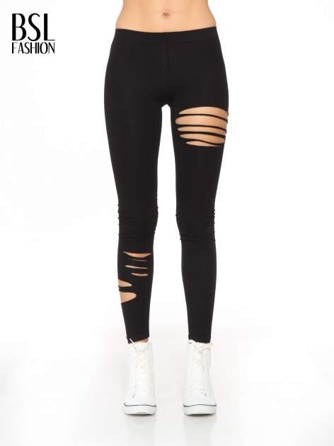 Czarne legginsy z dziurami                                  zdj.                                  1