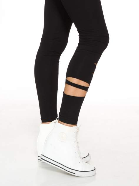 Czarne legginsy z dziurami                                  zdj.                                  6