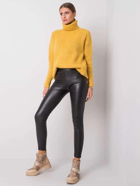 Czarne legginsy ze skóry ekologicznej Briana RUE PARIS