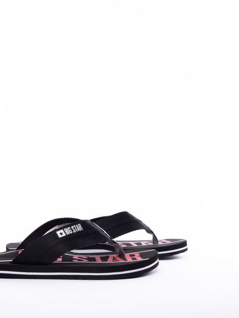 Czarne męskie klapki BIG STAR z szerokimi paskami i logo                              zdj.                              5