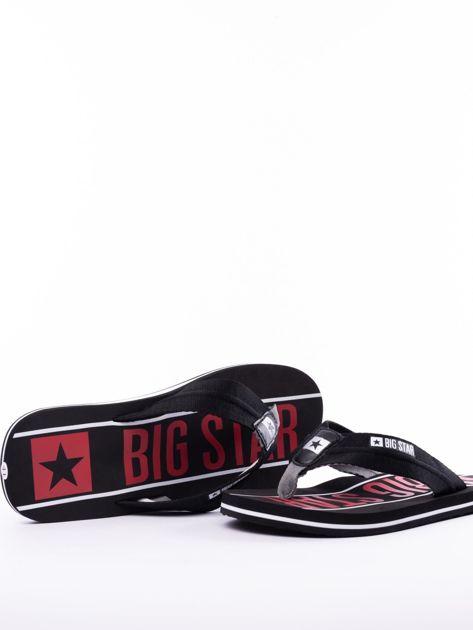 Czarne męskie klapki BIG STAR z szerokimi paskami i logo                              zdj.                              6