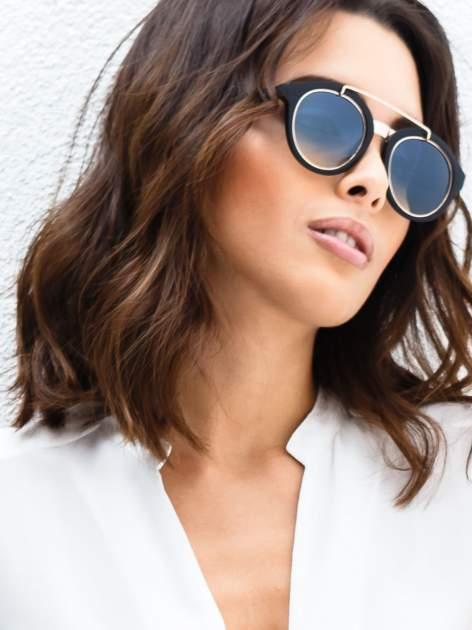 Czarne okulary przeciwsłoneczne w stylu vintage retro                                  zdj.                                  1