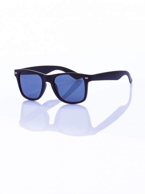 Czarne okulary przeciwsłoneczne z POLARYZACJĄ typu WAYFARER                                  zdj.                                  3