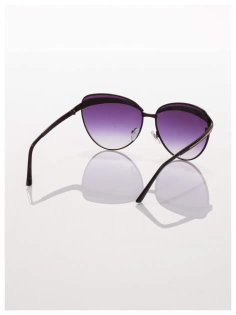 Czarne okulary przeciwsłoneczne z cyrkoniami w stylu RETRO                                   zdj.                                  4