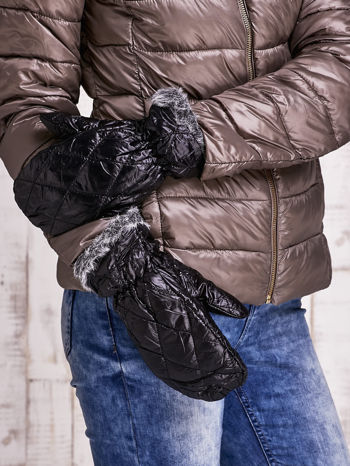 Czarne pikowane rękawiczki z jednym palcem FUNK N SOUL