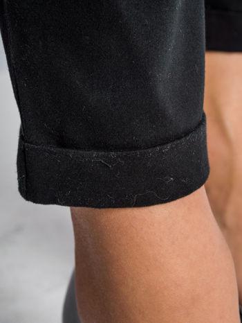 Czarne proste spodnie typu cygaretki 7/8                                  zdj.                                  6