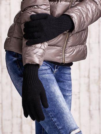 Czarne rękawiczki z długim ściągaczem                                  zdj.                                  3