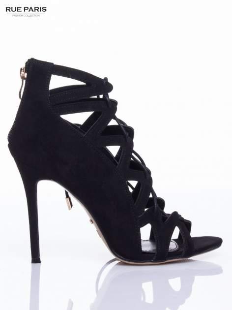 Czarne sandały gladiatorki                                  zdj.                                  2
