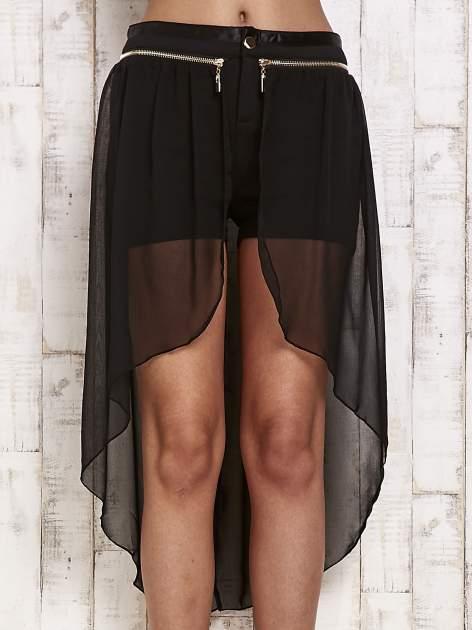 Czarne spódnicospodnie z tiulowym trenem                                  zdj.                                  1