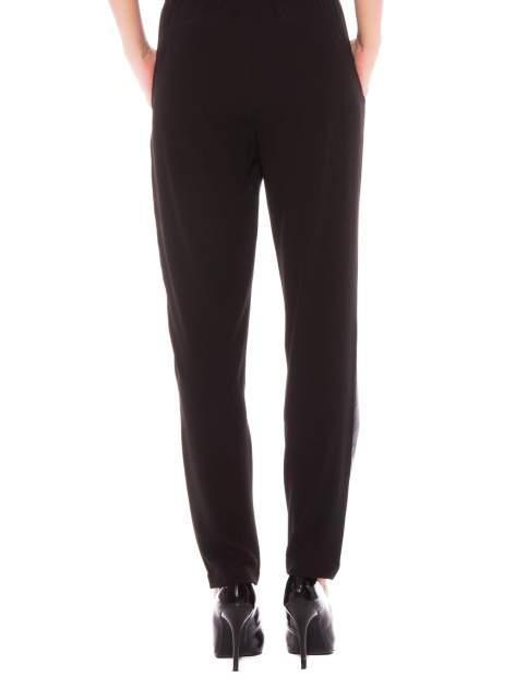 Czarne spodnie dresowe damskie ze skórzanym przodem                                  zdj.                                  2