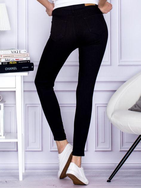 Czarne spodnie high waist                                   zdj.                                  2