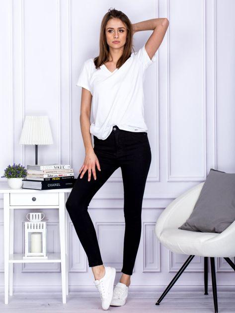 Czarne spodnie high waist                                   zdj.                                  4