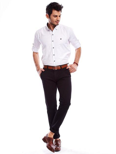 Czarne spodnie męskie regular                               zdj.                              4