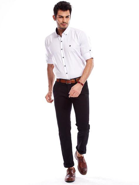 Czarne spodnie męskie regular                               zdj.                              9