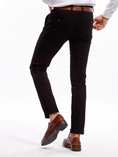 Czarne spodnie męskie slim fit                              zdj.                              2