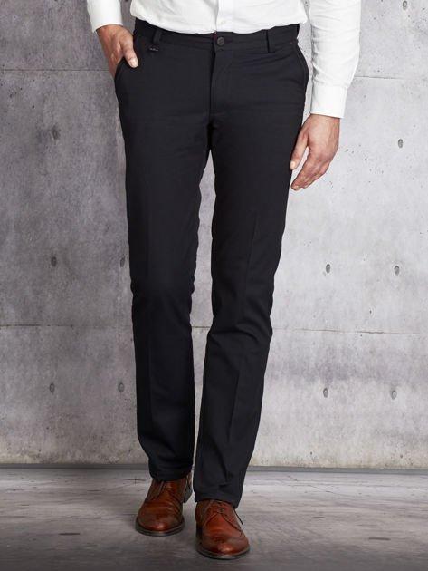Czarne spodnie męskie straight