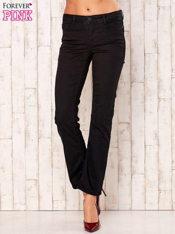 Czarne spodnie regular z napami                                  zdj.                                  1