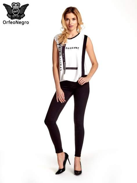 Czarne spodnie typu skinny z elastycznego materiału                                  zdj.                                  2