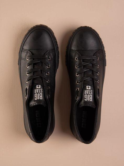 Czarne tenisówki BIG STAR z tłoczonym logo na podeszwie                              zdj.                              2