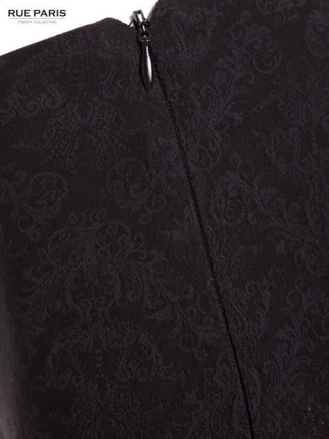 Czarne żakardowe spodnie w orientalny wzór                                  zdj.                                  2